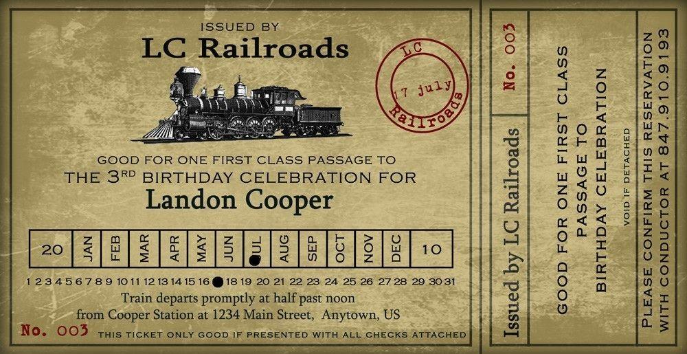 Билет на поезд открытка