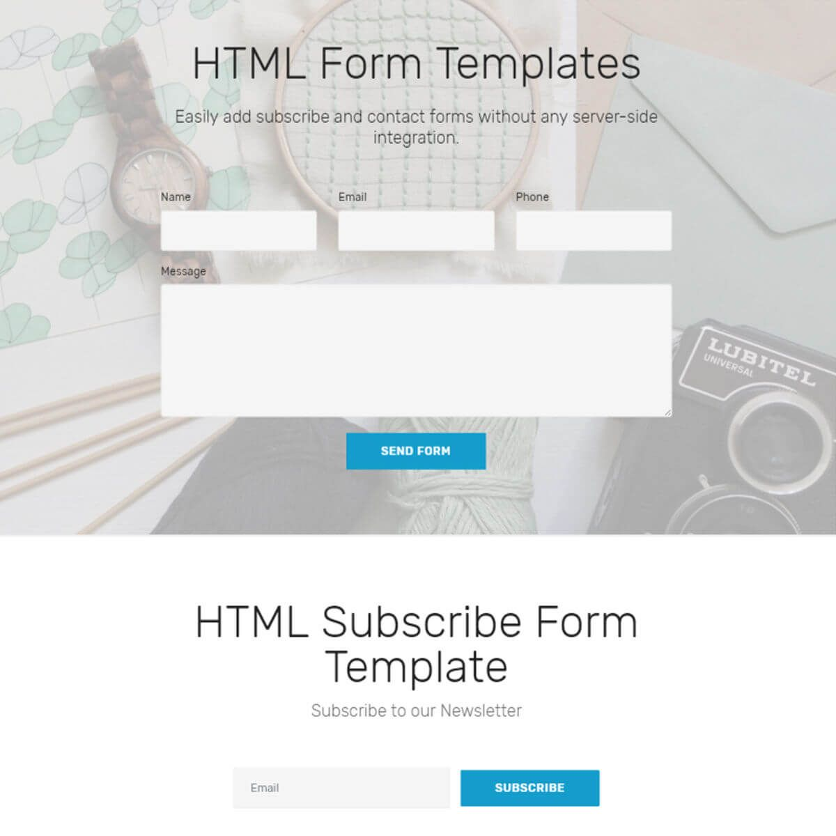 Bootstrap Form Templates