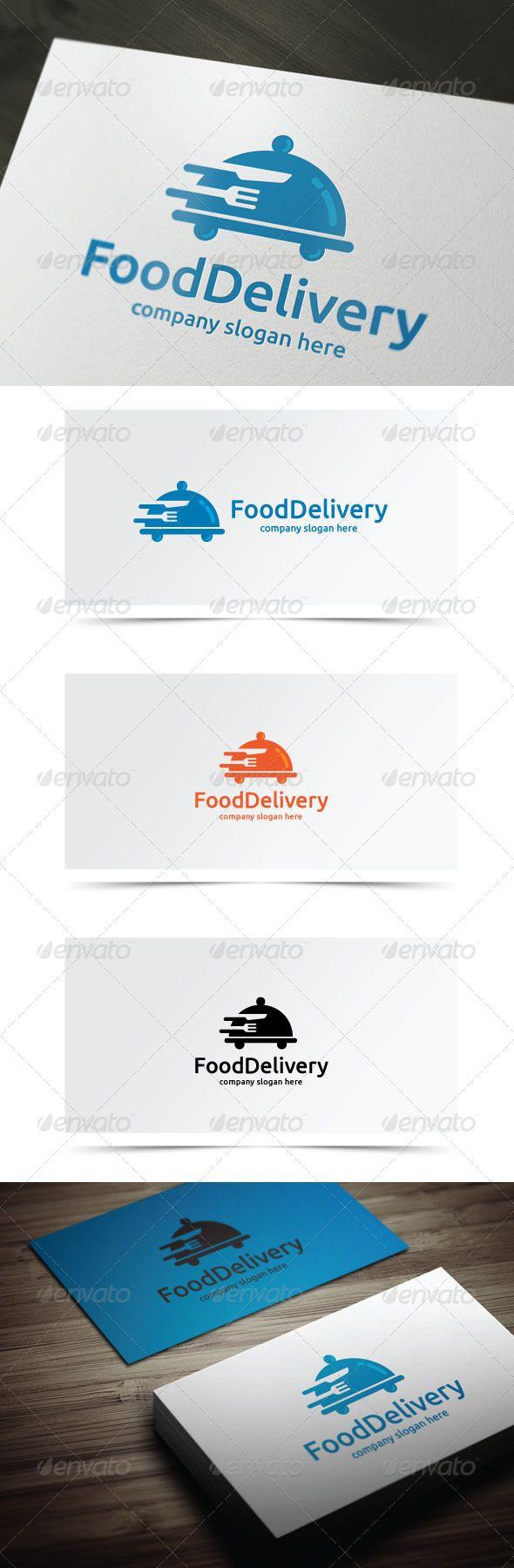 Food Delivery Logo templates, Vector logo, Logo design