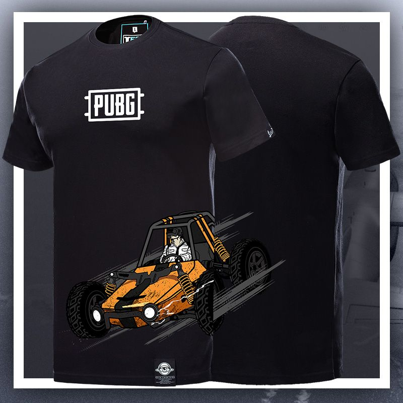 196381d5 Playerunknown'S Battlegrounds T-shirt pubg Black Tee Shirt ...