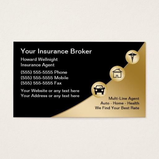 Insurance Broker Business Cards Zazzle Com In 2020 Insurance