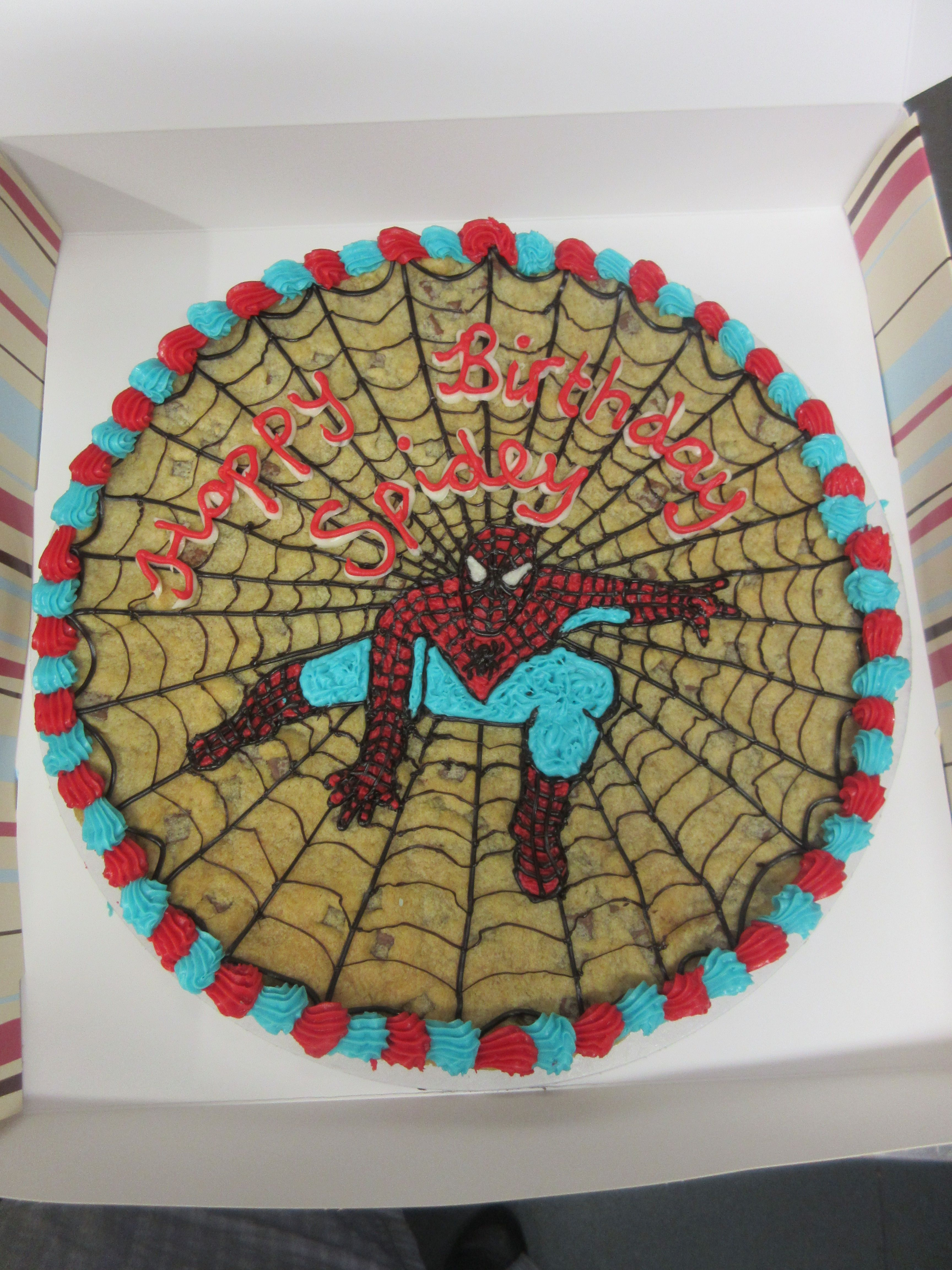 Spiderman Giant Millies Cookie Decorated For 5th Birthday Party By Hjs Visit To Grab An Amazing Super Hero Shirt Now On