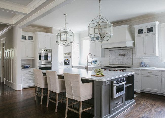 White And Gray Kitchen Designed By Jackbilt Homes Home Bunch An Interior Design Luxury Homes Blog Grey Kitchen Island Grey Kitchen Designs Grey Kitchen