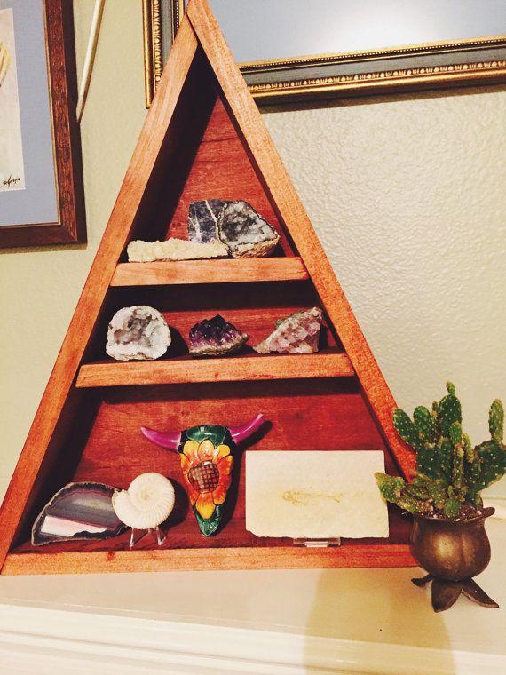 Handmade Triangular Shelf Large Shelf by GlassHouseCollection