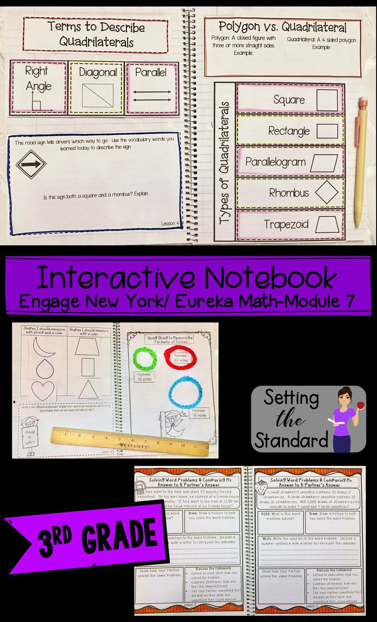 Interactive Math Notebook Grade 3 Module 7 Engage New York