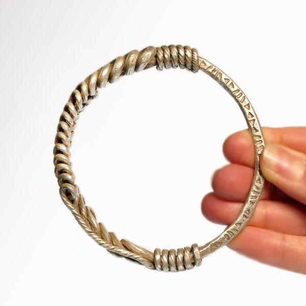 Viking 9th 11th Century A D silver bracelet artemission