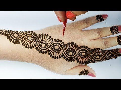 आसान शेडेड मेहँदी डिज़ाइन – Easy Arabic Wedding Mehndi Design- Stylish Backhandअरेबिक दुल्हन मेहँदी