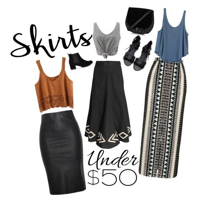 """Skirts, Contest Entry"" by graceeyyy ❤ liked on Polyvore featuring River Island, RVCA, Relaxfeel, under50 and skirtunder50"