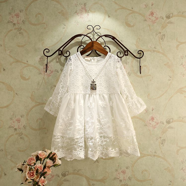 >> Click to Buy << Christmas Dress/Child Girl Princess Dress/White Lace #Affiliate