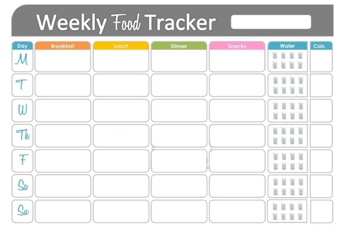 Free Printable Fitness Food Tracker