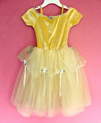 f8df922f51064 Disney Store Princess Belle Dress M 7 8 Beauty and the Beast Dance Ice  Skating
