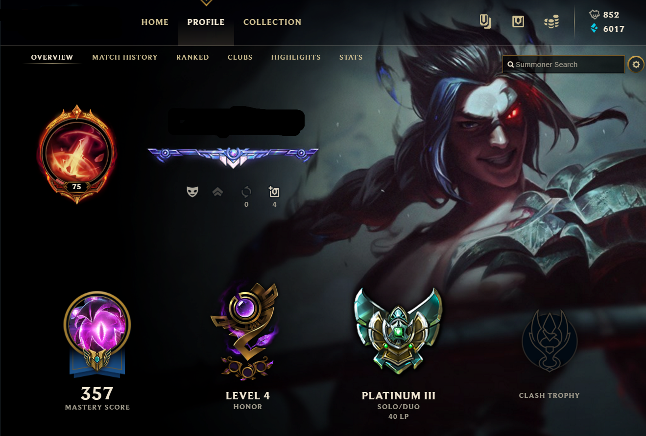league of legends Account |EUNE| DIAMOND in Season 5 6 7| PLAT | ALL