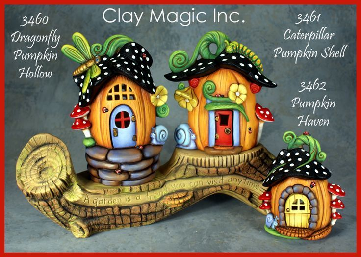 ... Houses Sculpture, Pumpkin Houses, Clay Art, Polymer Clay Fairies