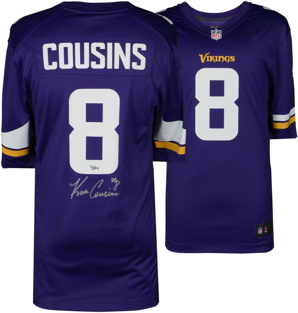lowest price 42327 93f75 Kirk Cousins Minnesota Vikings Autographed Purple Nike Game ...