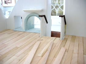 No fricken way! Popsicle stocks for a doll house wood floor