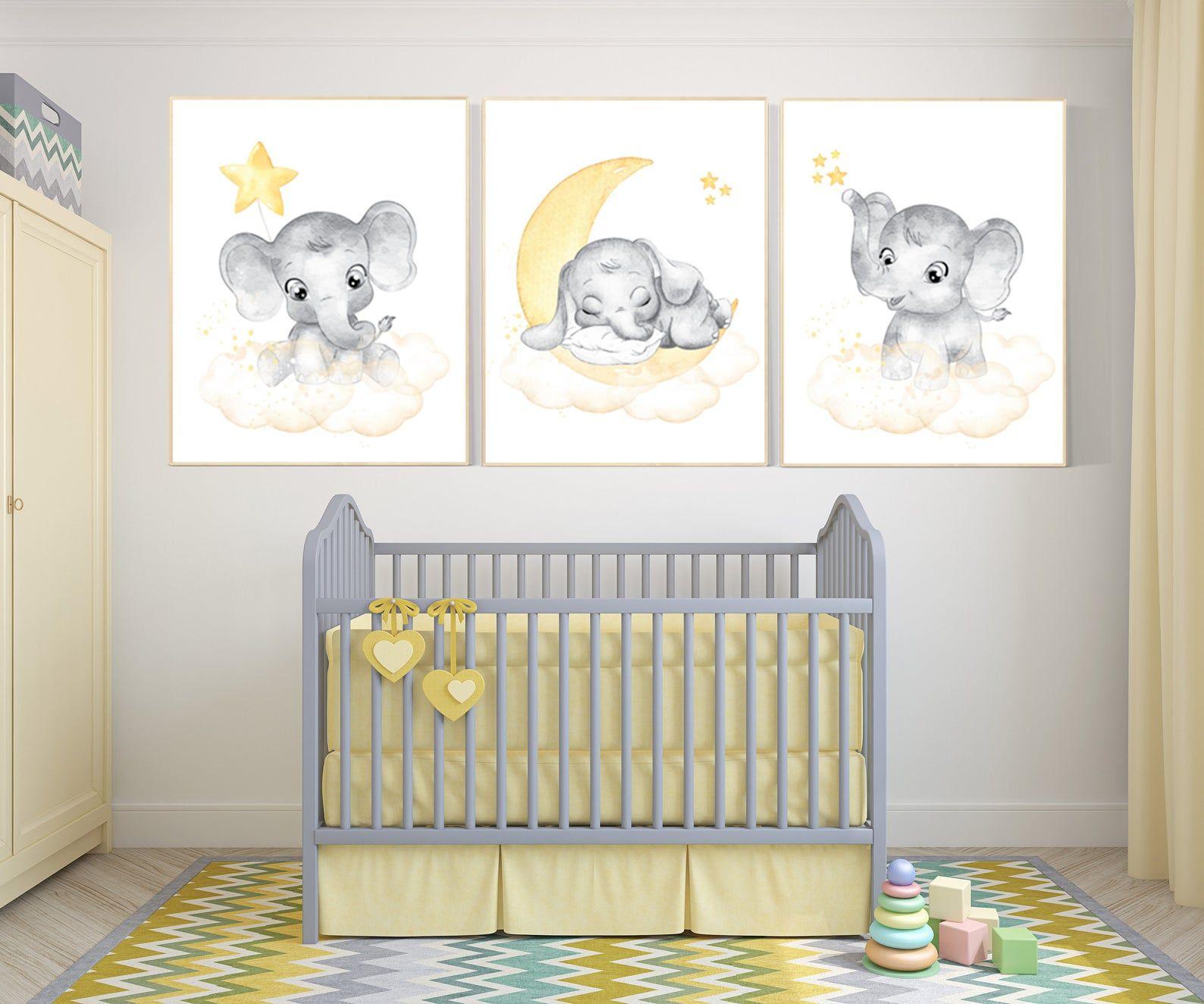 Nursery Decor Neutral Yellow Nursery Nursery Wall Art Etsy