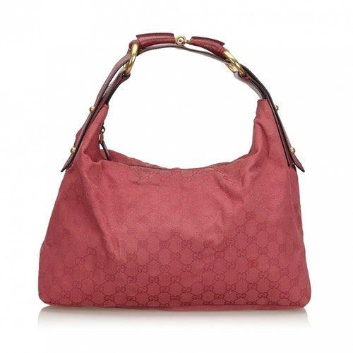 GUCCI HOBO PINK CLOTH HANDBAG bags