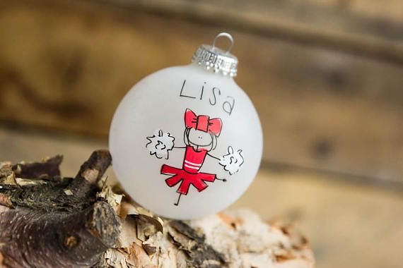 Personalized Christmas Tree Ornament Holiday 4 Different Color Cheer