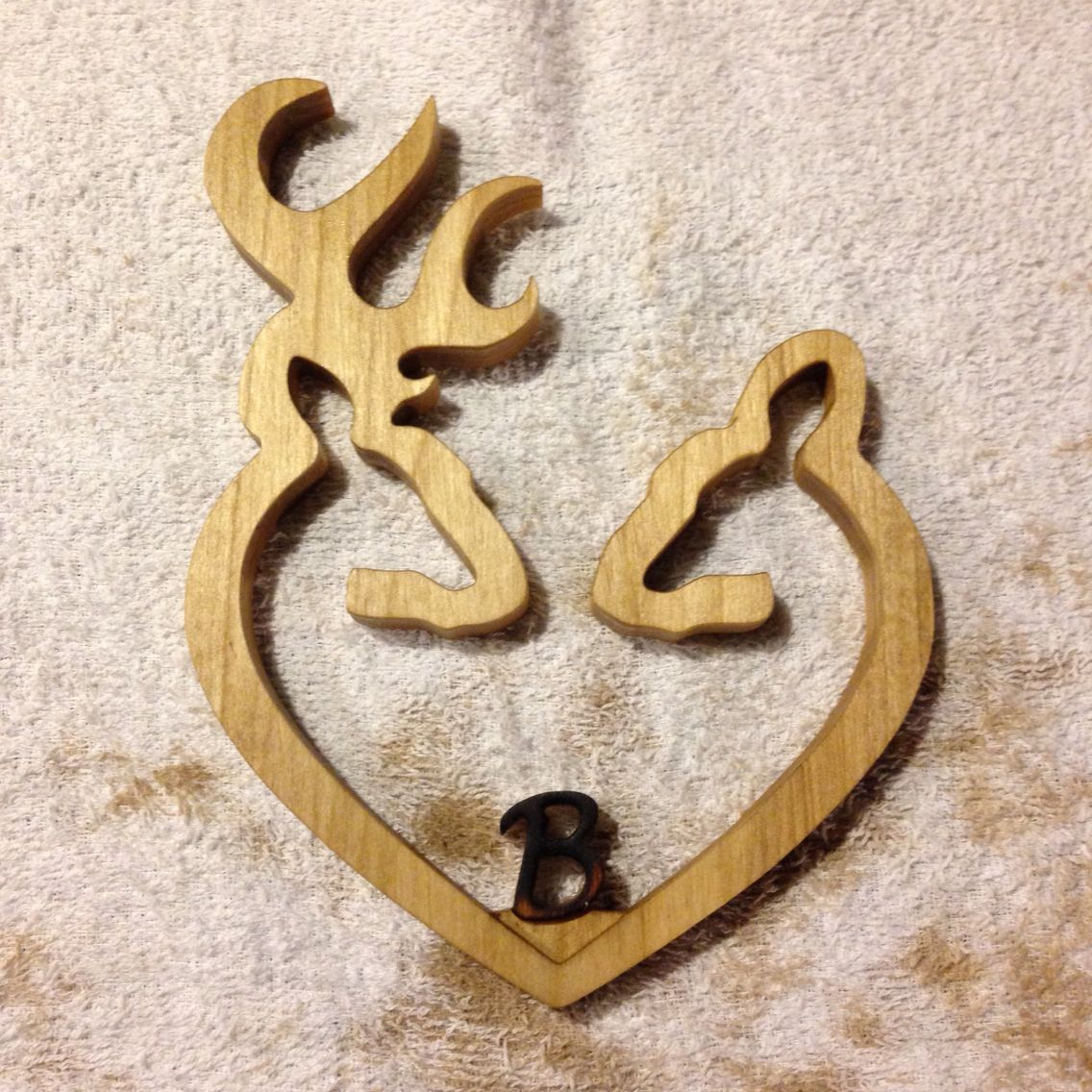 Browning love freshly stained poplar wedding cake topper cnc browning love freshly stained poplar wedding cake topper biocorpaavc Images