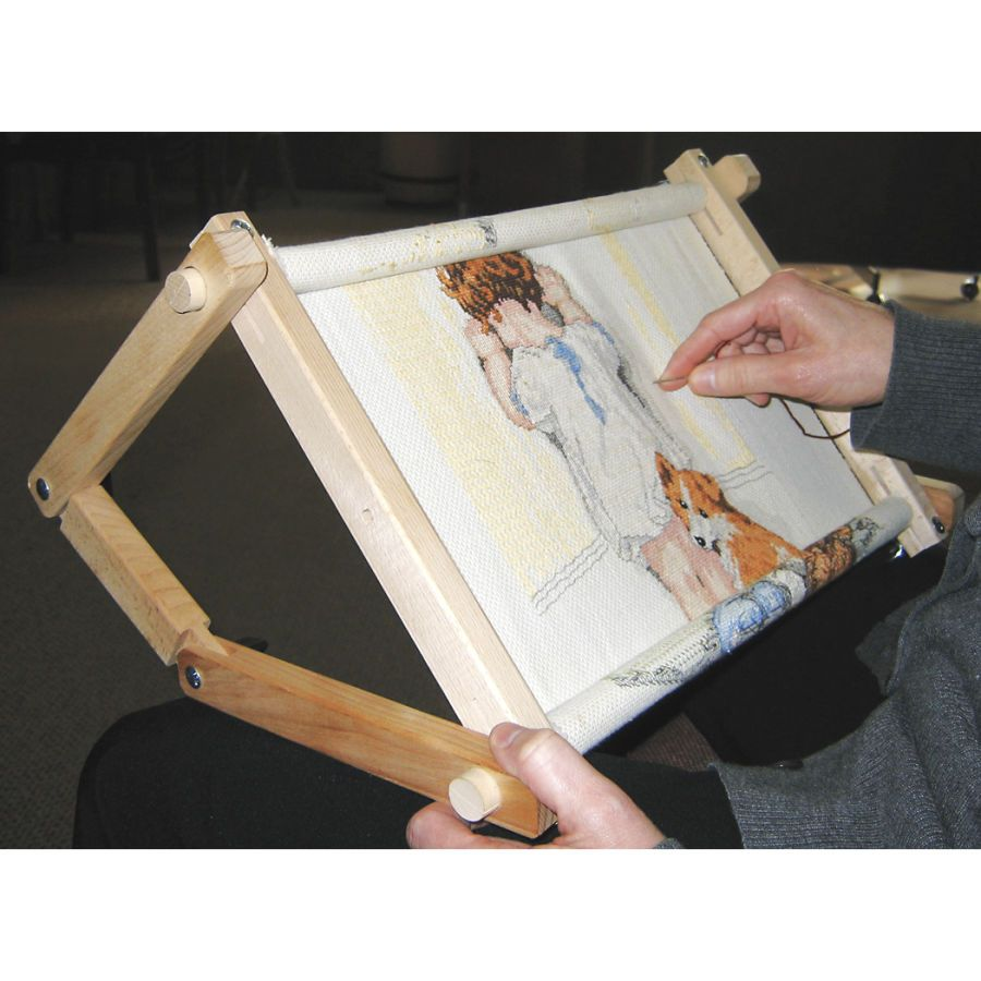 Flexible Tabletop or Laptop Scroll Frame - Cross Stitch, Needlepoint ...