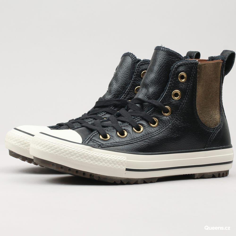 Converse Chuck Taylor All Star Chelsea Boot Leather black   black   egret  za 2 790 Kč  Kotníkové dámské tenisky od značky Converse s pojmenováním  Chuck ... c46d43a5536