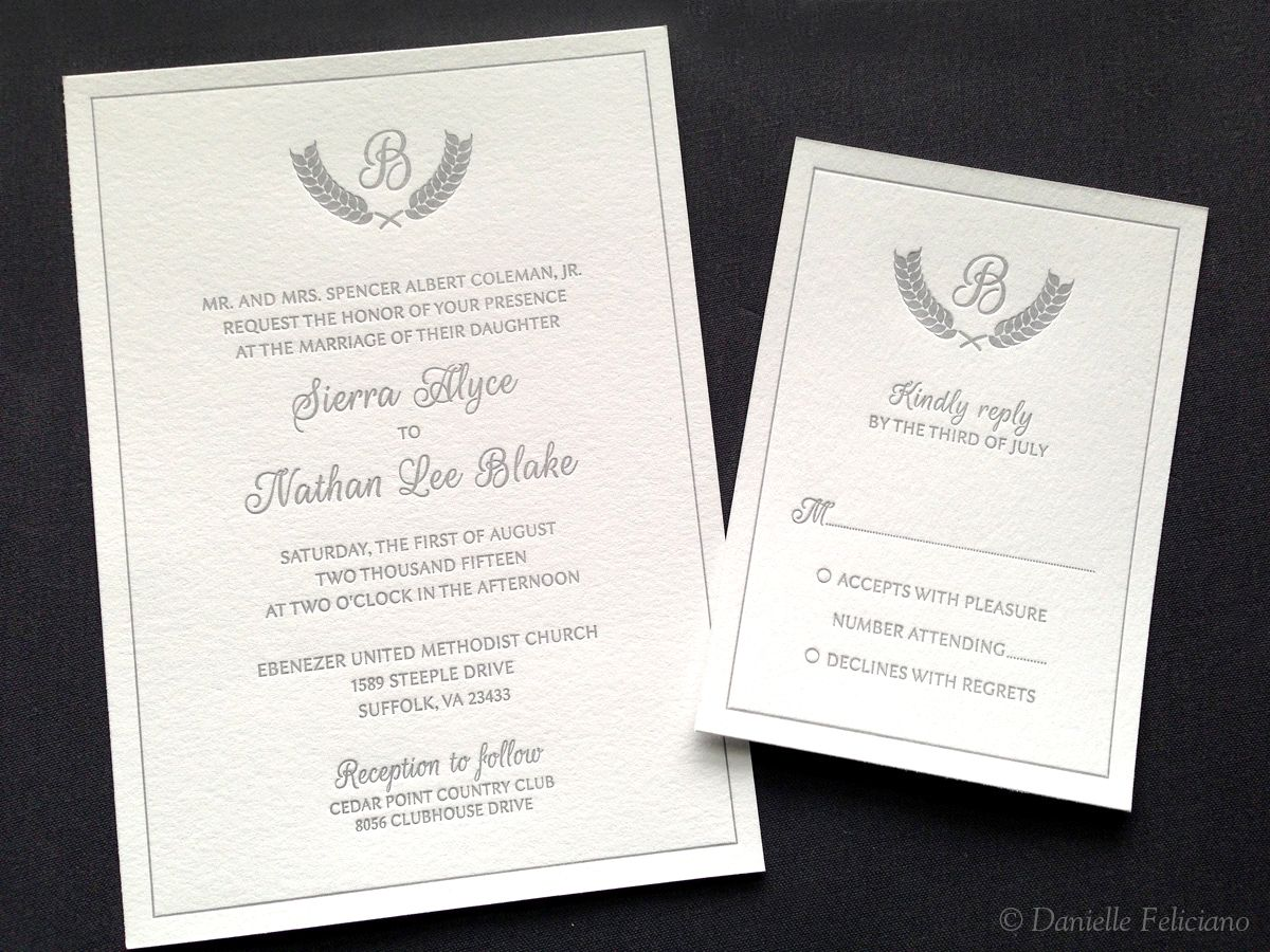 I Designed These Wedding Invitations Printed By Panthera Press