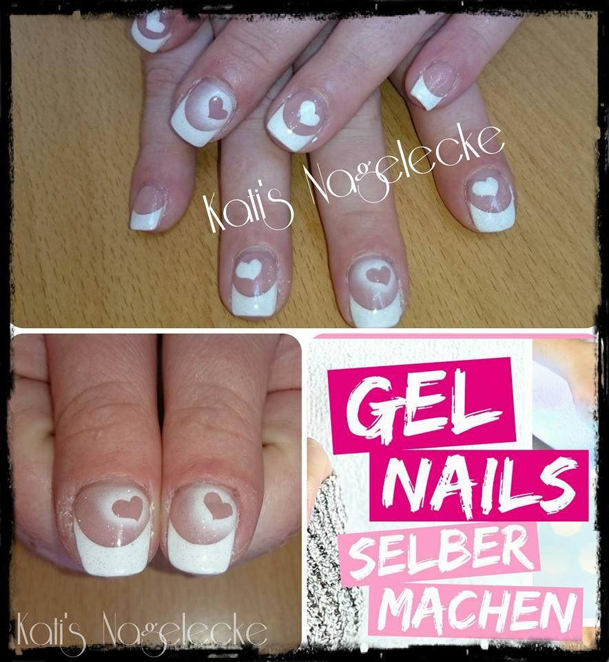 Hochzeitsnägel #nails #weis #herzen #herz #hochzeitsnägel #schlicht ...
