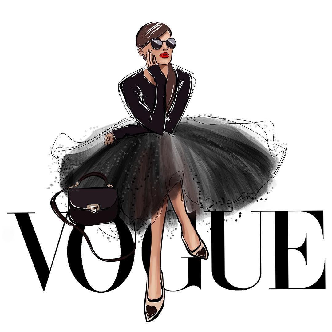 """Photo of NASTYA KOSYANOVA ❤️ SHOP on Instagram: """"Vogue🖤 Illustration👠  #fashionillustration #fashionsketch #fashionillustrator #vogue #voguemagazine #illustration #illustrationsempire…"""""""