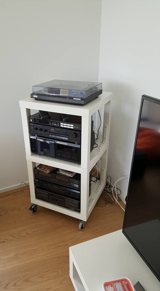 Diy Hifi Rack Ikea Lack Hifi Rack | Ikea Hacks | Ikea Furniture Hacks, Ikea