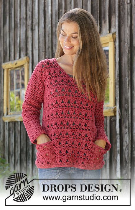 Free Crochet Pattern for a Lace Sweater with Pockets ⋆ Crochet Kingdom