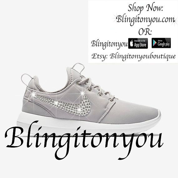 promo code 92f4e 91f80 Blinged Nike Women s Roshe Two Bling Shoes Customized with Swarovski  Crystals. Brand New Item!!