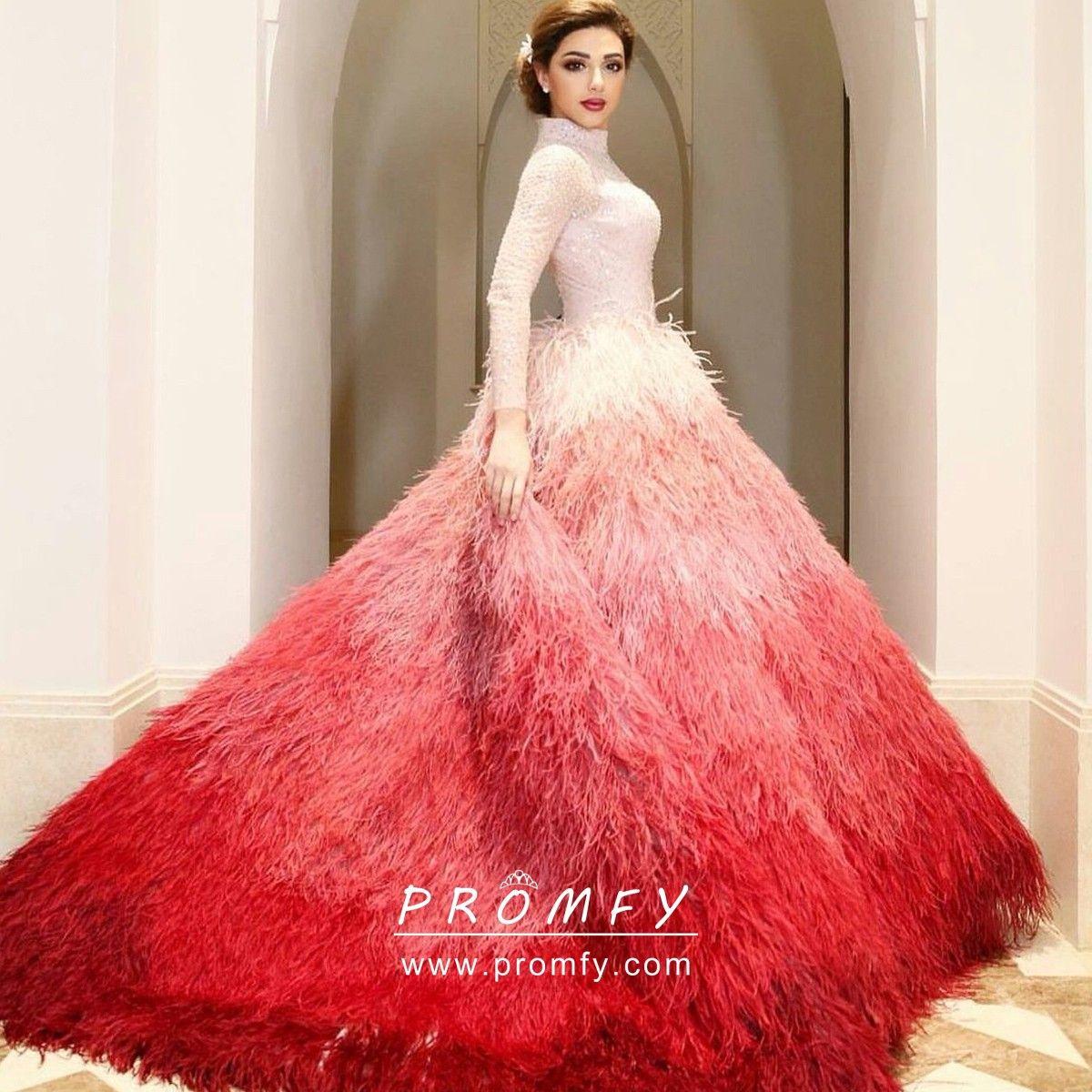 49++ Ombre wedding dress red info