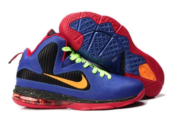reputable site af450 d1bb0 Nike Air Max LeBron James 9 RoyalBlue Black Red Basketball shoes