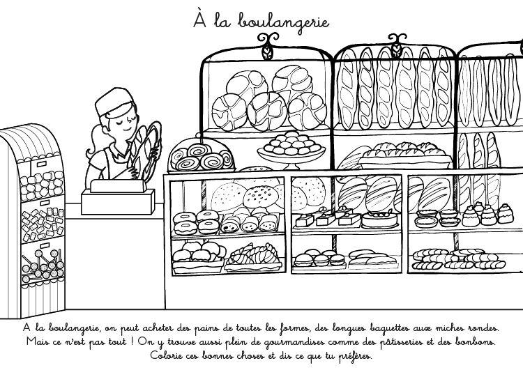 Coloriage Boulanger Les Beaux Dessins De Personnages à