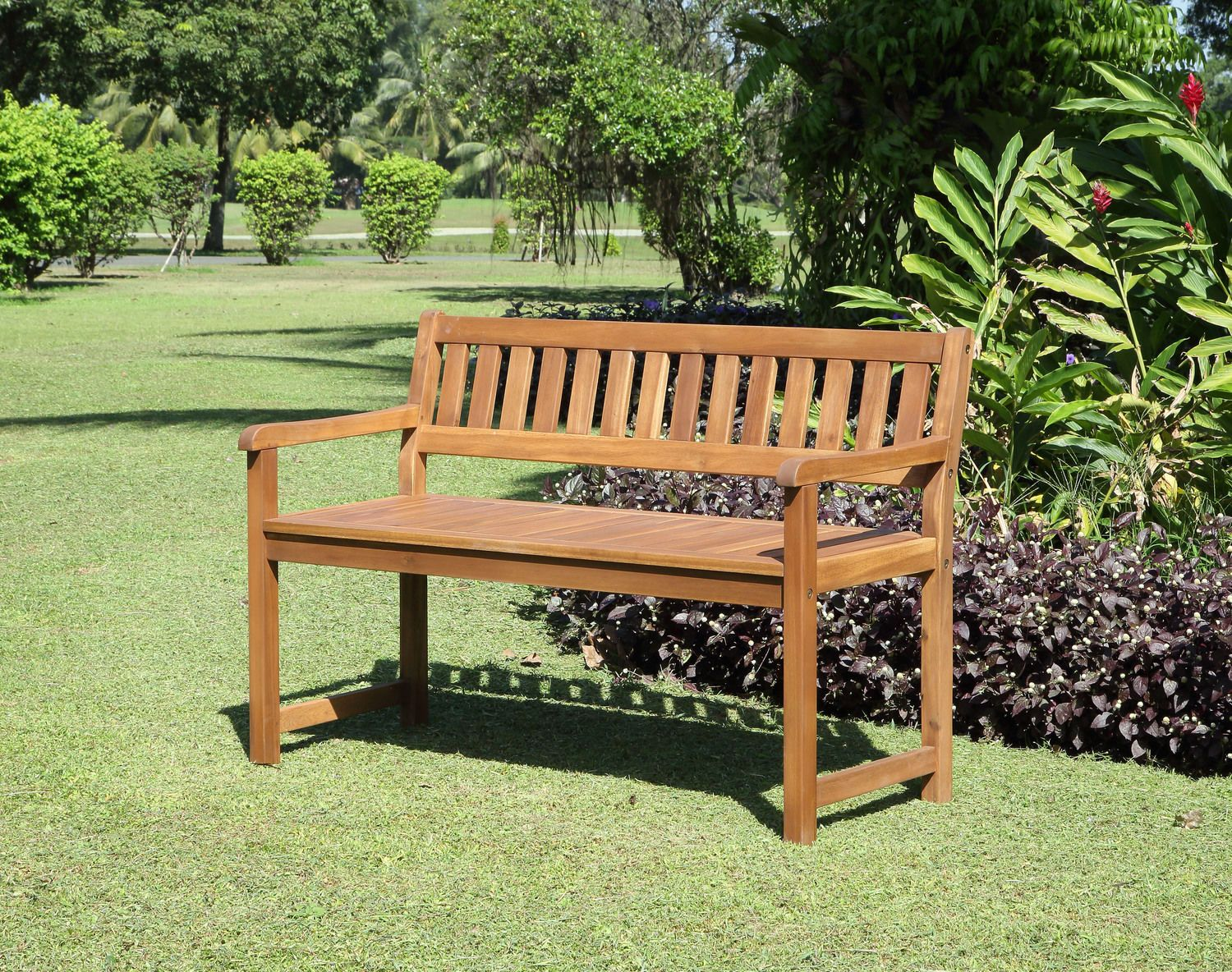 Hampton Beach Outdoor Bench Teak Garden Bench