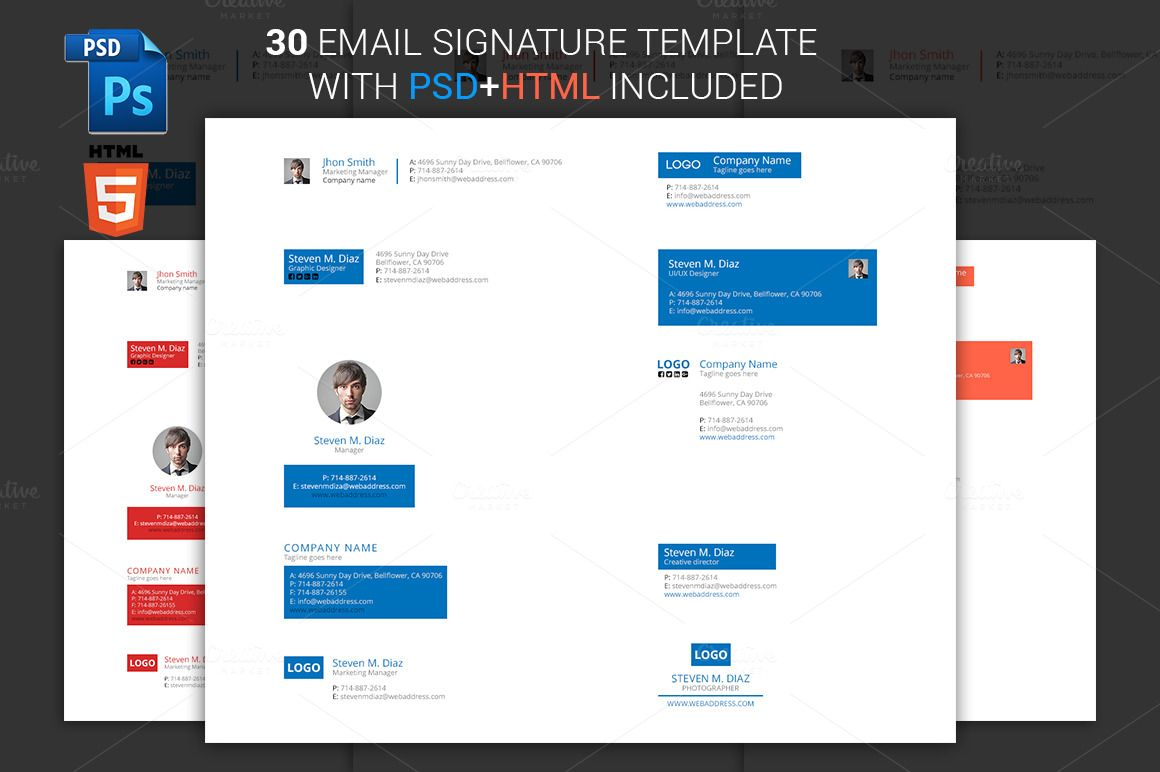 Simple Email Signature By Pixelarc On At Creativemarket Email
