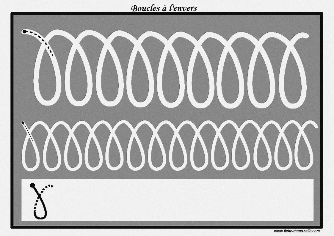 Des pistes graphiques à plastifier pour apprendre à écrire : les boucles à l'envers