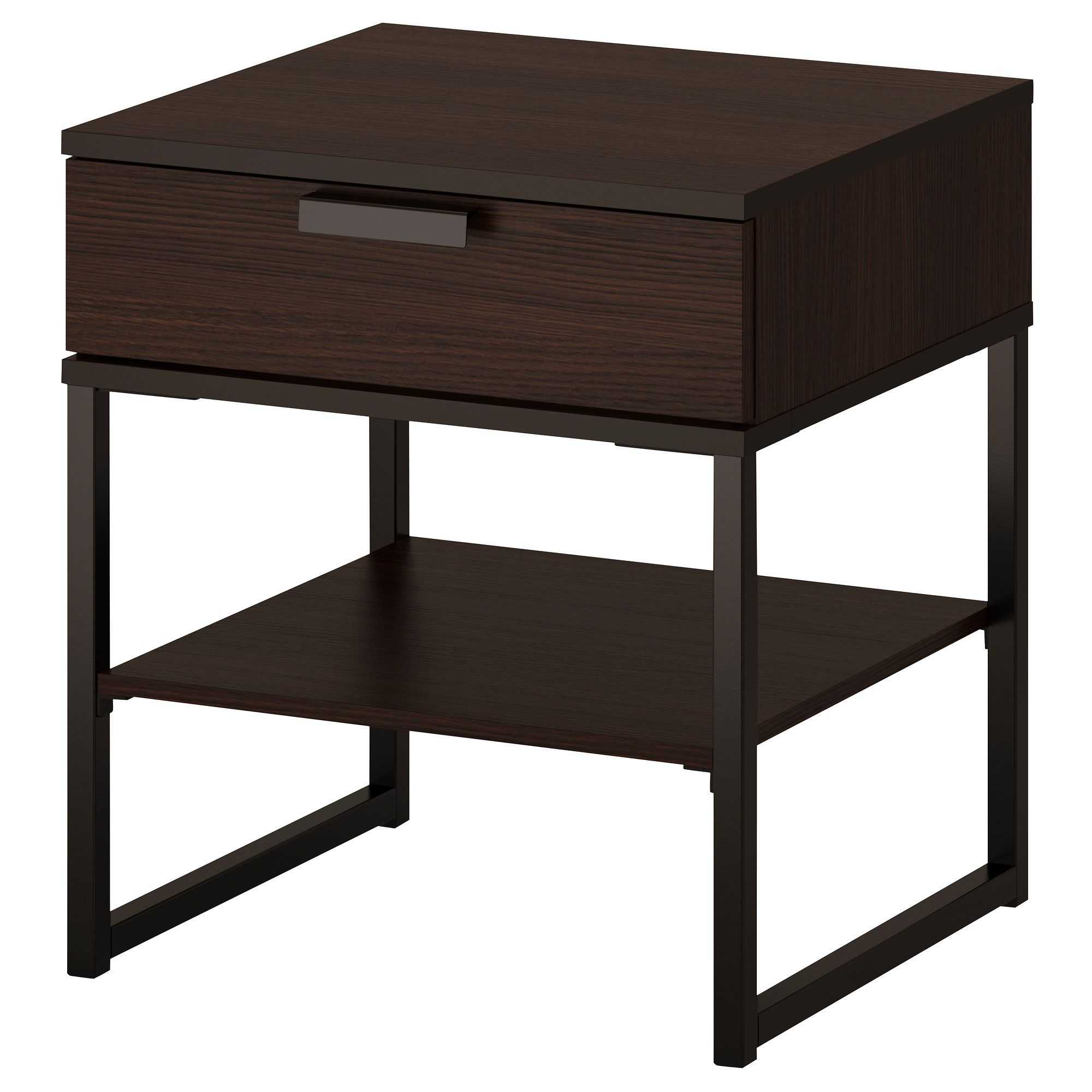 TRYSIL Nightstand, dark brown, black | Pinterest | Ablagetisch ...