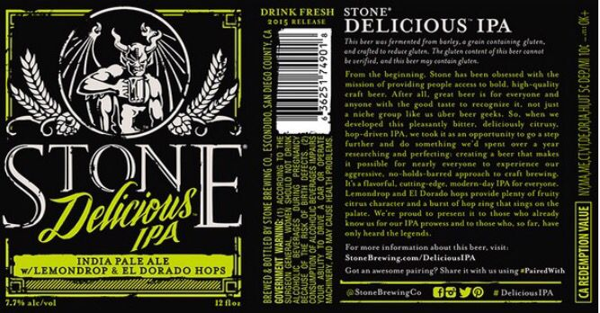 Stone Brewing Co. AGAIN.. Can't be bad though.., really need to try this one (as well). Sounds so fresh.