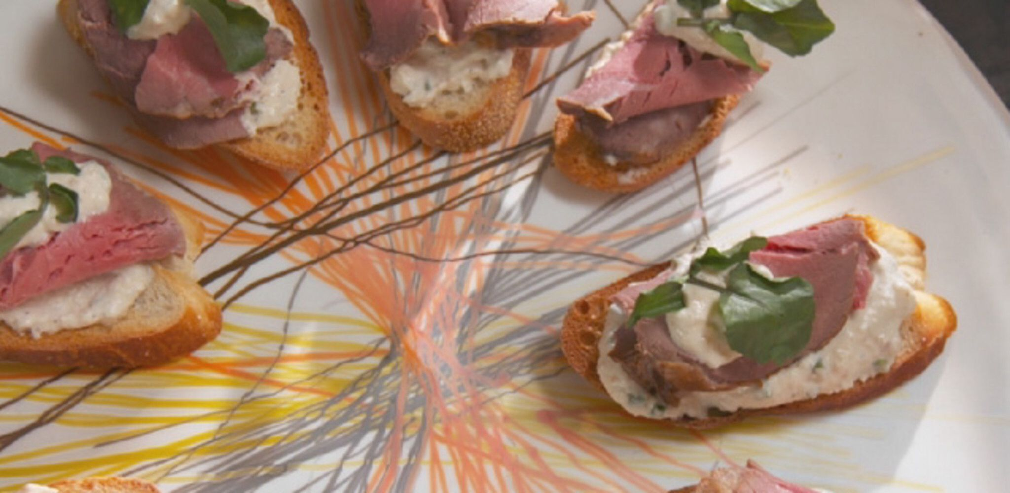 Beef Tenderloin Crostini Recipe I M A Foodie Nibbles Beef Tenderloin Farmhouse Rules Nancy Fuller