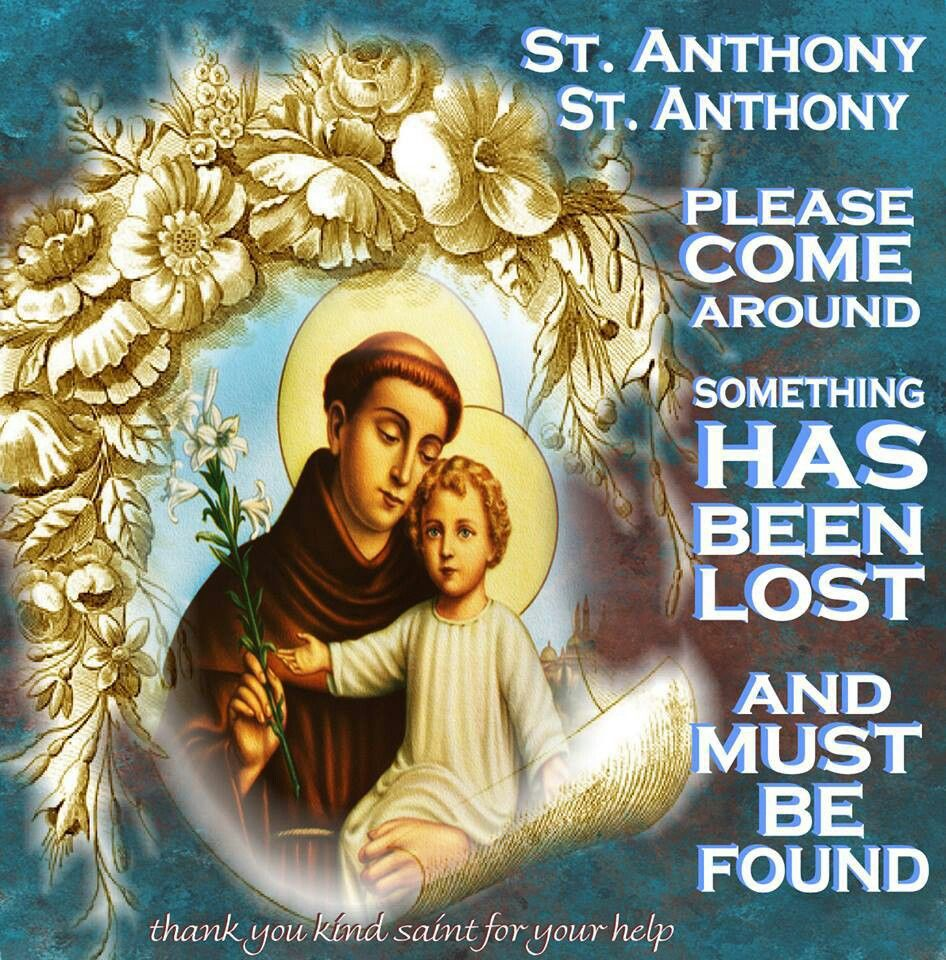 st anthony prayer for missing things
