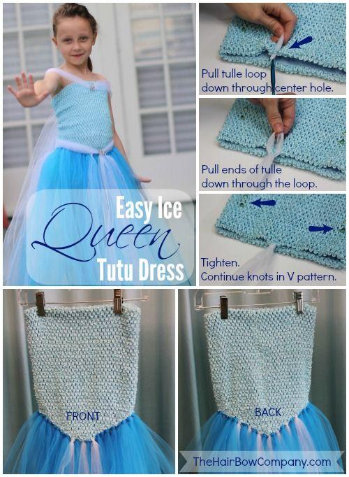 Ice Queen Princess Dresses Pinterest Tutu Dress Tutorial