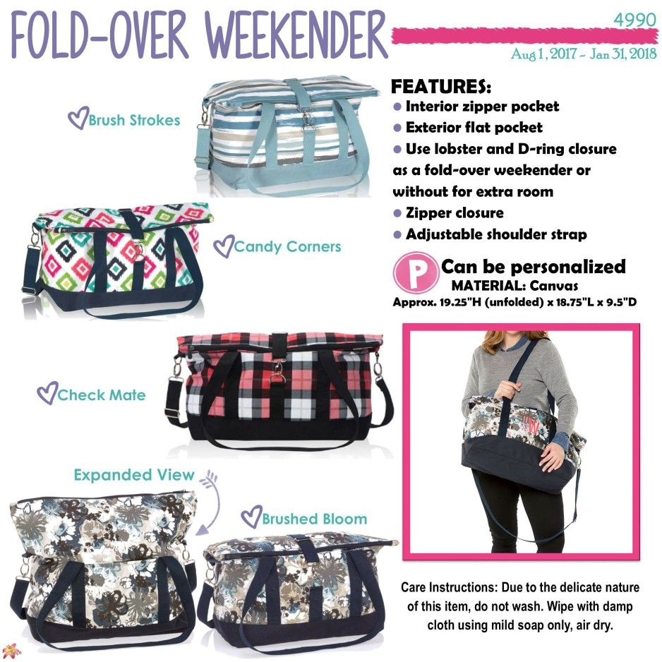 Fold Over Weekender Candy Corners Thirty One