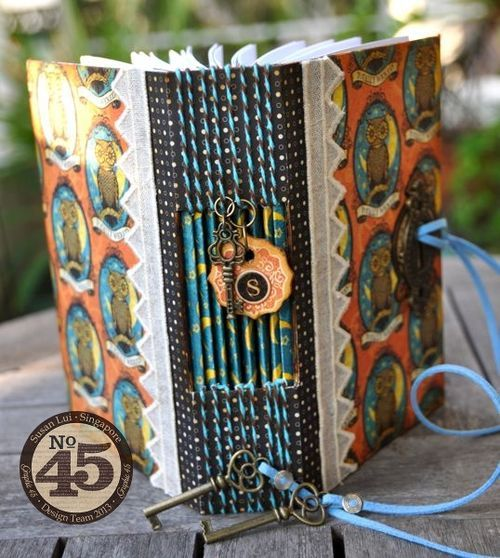 Love the idea of the lock and keys on this album! - Steampunk-Spells-Journal-Graphic-45-Susan-Lui-gift