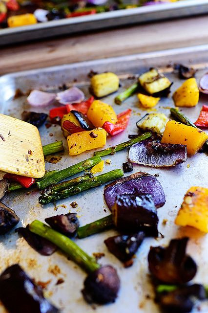 Beautiful Roasted Vegetables - I think that we could grill these? I know dad would like them.