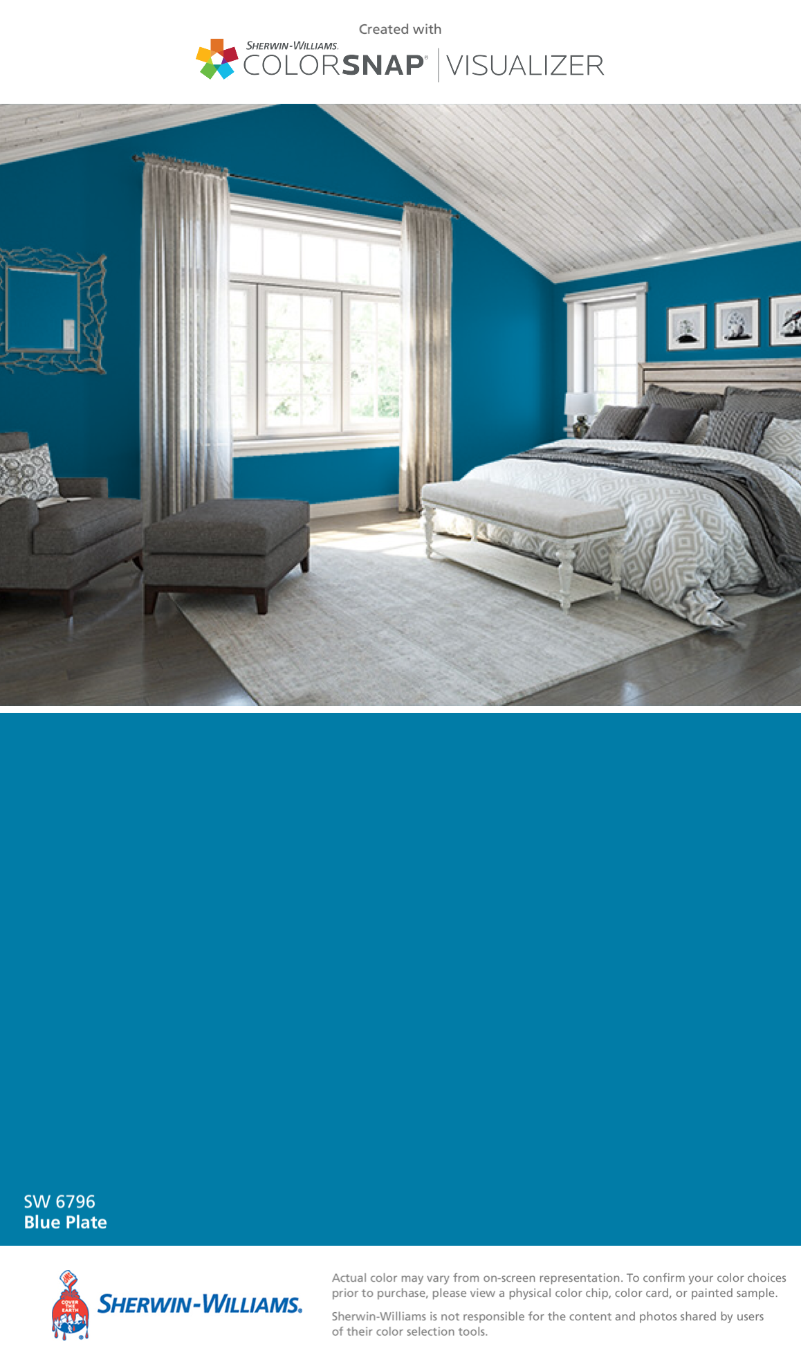 Sherwin williams paint colors sherwin williams 6249 storm cloud - I Found This Color With Colorsnap Visualizer For Iphone By Sherwin Williams Blue