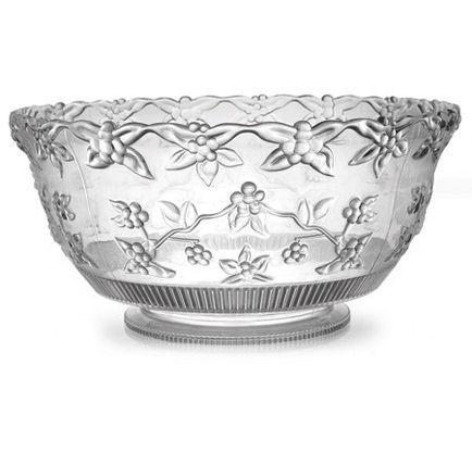 Pretty Clear 10 Qt Punch Plastic Bowl 6 Plastic Bowls Weddings