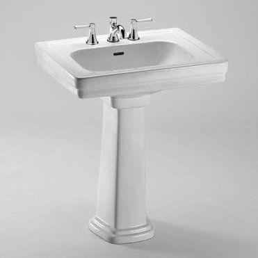 Toto Promenade Vitreous China Rectangular Pedestal Bathroom Sink