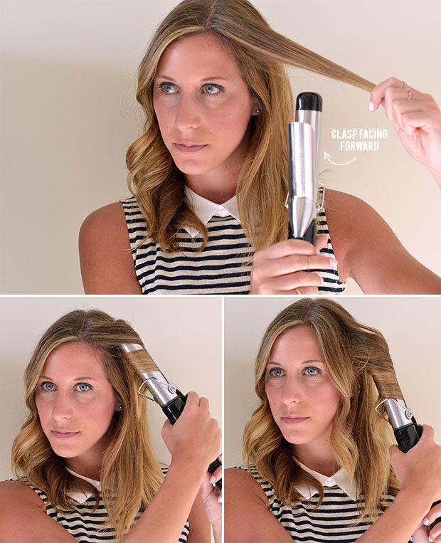 How To Use A Curling Iron Hair Diy Curls Curling Iron Short