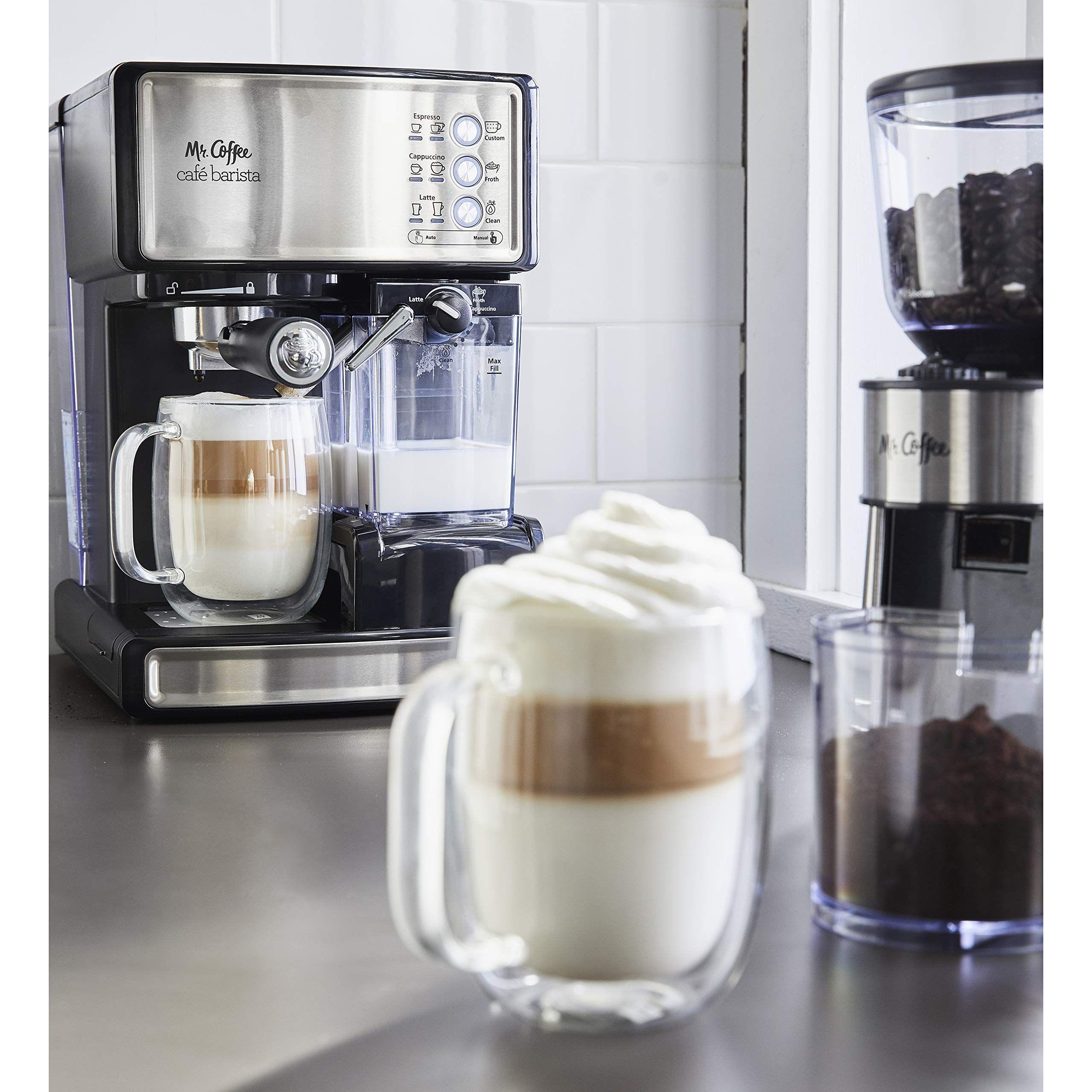 Mr. Coffee Cafe Barista Espresso and Cappuccino Maker ...